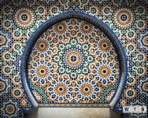 fes medina morocco moqri fountain mosaic