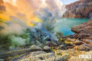 kawah ijen volcano sulfur
