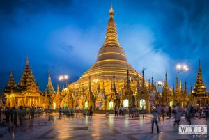 myanmar shwedagon sunset