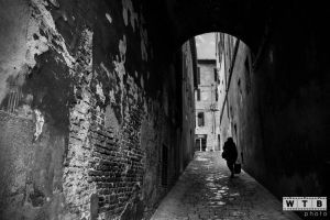 siena italy old street silhouette 2013