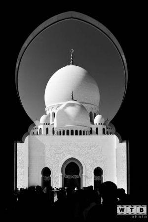 abu dhabi sheikh zayed mosque silhouette 2012