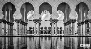 abu dhabi sheikh zayed mosque arches 2012