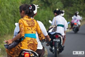 Girls Riding Home After Saraswati